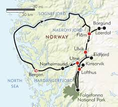 Norway World Map by Hiking Norway U0027s Fjord Country Route Map Norway Pinterest