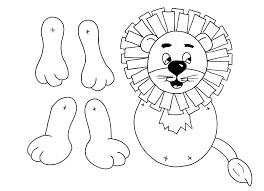 free pdf lion puppet actividades infantis pinterest