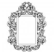 ornamental mirror design vector premium