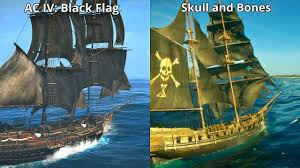 Blue Yellow And Black Flag Skull And Bones Vs Assassin U0027s Creed Iv Black Flag Graphics