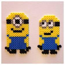 despicable me minion ornament perler magnets set of 2