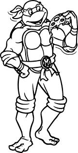 ninja turtle cartoon coloring pages wecoloringpage