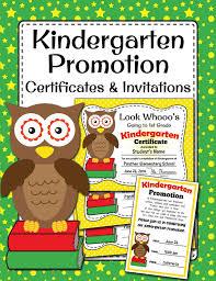 kindergarten certificates kindergarten promotion certificates and invitation owl