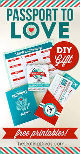 passport to love free printables creative and gift