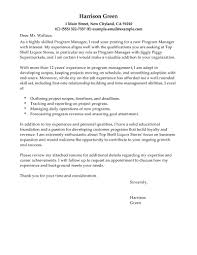 Program Manager Sample Resume by Resume Cover Letter Project Manager Free Resume Example And