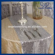 hand beaded table runners ru009b sale angela weddding sequence silver sequin table runner