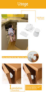 Magnet Cabinet Lock Baby Safety Lock Child Baby Kids Safety Magnetic Locking System