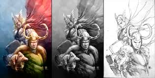 loki u0026 thor colored u2013 colwell illustration