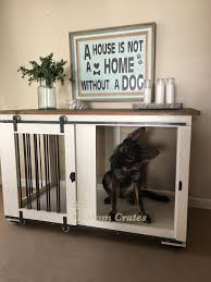 Diy End Table Dog Crate by Best 25 Dog Crates Ideas On Pinterest Dog Crate Decorative Dog