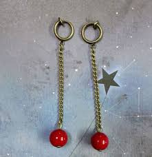 jojo s earrings anime earring jojo s adventure kakyoin noriaki cherry
