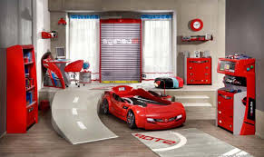 cool boys bedroom designs with red and white color schemed also
