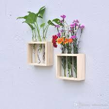 Test Tube Vases Wholesale Ivolador Crystal Glass Test Tube Vase In Wooden Stand Flower Pots