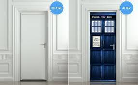 Tardis Interior Door Vinyl Door Decal That Looks Like The Tardis From Doctor Who