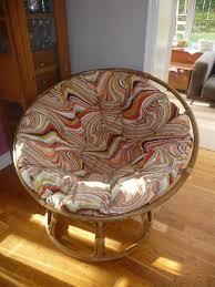 furniture lovely orange stripes pattern fabric tufted cushion pad