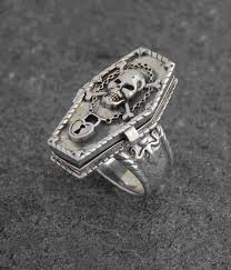 silver skeleton ring holder images Skull and bones memento mori coffin poison ring celtic jackalope jpg