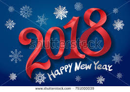 happy new years posters modern 2018 happy new year vector colorful background