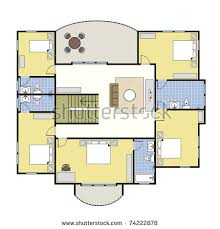 floorplan of a house second floor plan floorplan house stock vector 74222878