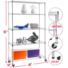 5 Tier Wire Shelving by 82