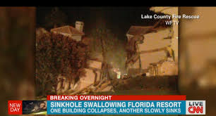 Sinkholes In Florida Map by Disney Area Hotel Complex Collapses Into Florida Sinkhole