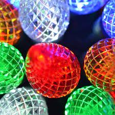 multi colored led christmas lights c7 multi color led christmas lights 25 lights 17 ft long