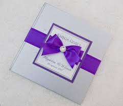 purple wedding guest book silver and purple wedding guest book personalized tradesy