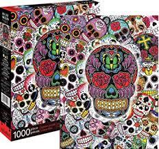 amazon com aquarius sugar skulls 1000 jigsaw puzzle toys