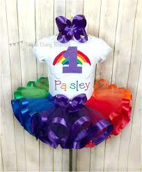 ribbon tutu rainbow birthday ribbon trim tutu rainbow baby