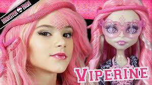 monster high makeup tutorial on viperine gorgon little girls
