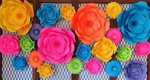 Wedding Backdrop Amazon Amazon Com Set Of 22 Giant Paper Flowers Neon Color 6 16