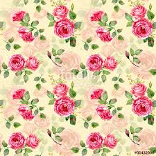 floral gift wrapping paper seamless pattern of watercolor roses illustration of flowers