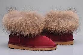 womens ugg boots fox fur style ugg 5854 fox fur boots mini boots