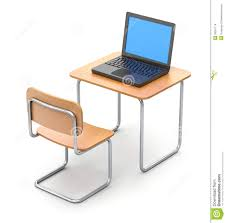 Laptop Desk White by Desk With Laptop Stock Illustration Image 39367114