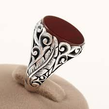 mens rings stones images Oriental design turkish handmade red onyx stone 925 sterling jpg