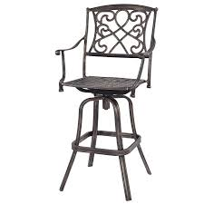 Outdoor Swivel Bar Stool Costway Cast Aluminum Swivel Bar Stool Patio Furniture Antique