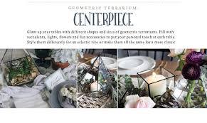 terrarium table 2018 wedding trends geometric terrarium u2013 46 u0026 spruce home and