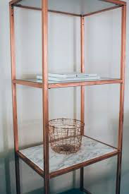 marble u0026 copper shelf diy ikea hack prim u0026 posie pinterest