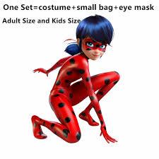 aliexpress com buy kids zip the miraculous ladybug cosplay