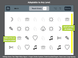 visual attention therapy app for left neglect for rehab