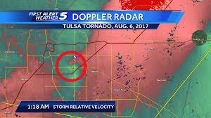 Map Of Tulsa Rare Tornado Hits Tulsa Oklahoma