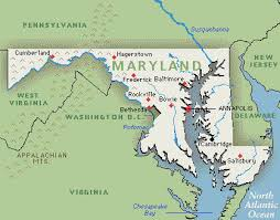 maryland map maryland map map of maryland usa greenwich time