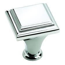 shop amerock manor polished chrome square cabinet knob at lowes com
