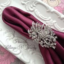ex large elegant crystal rhinestone silver pewter oval brooch