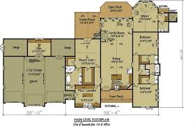 Floor Plans With 3 Car Garage One Story Rustic House Plan Design Alpine Lodge