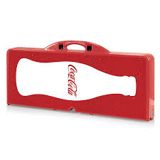 Coca Cola Patio Umbrella by Amazon Com Picnic Time Coca Cola Portable Picnic Table With