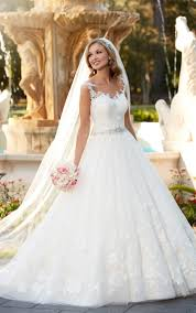 wedding dress images wedding ideas lace and tulle gown wedding dress stella york