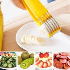 coupe banane cuisine coupe trancheuse banane outil cuisine fruits salade saucise ebay