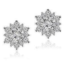 diamond cluster earrings diamond cluster earrings ebay