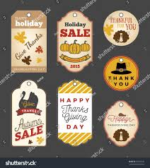 set thanksgiving gift tags autumn sale stock vector 326953733
