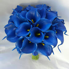 wedding flowers royal blue royal blue calla bouquets blue calla bouquet royal