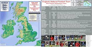 England On The Map by England National Team Billsportsmaps Com